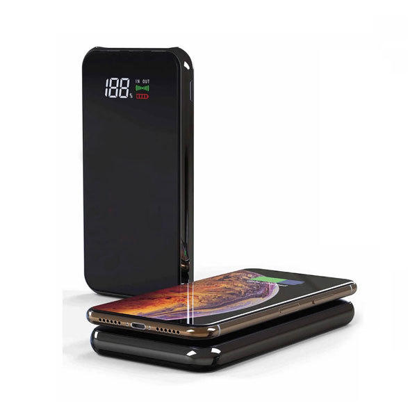 8000 Mah Glass Screen Wireless Powerbank-JINOTEGA